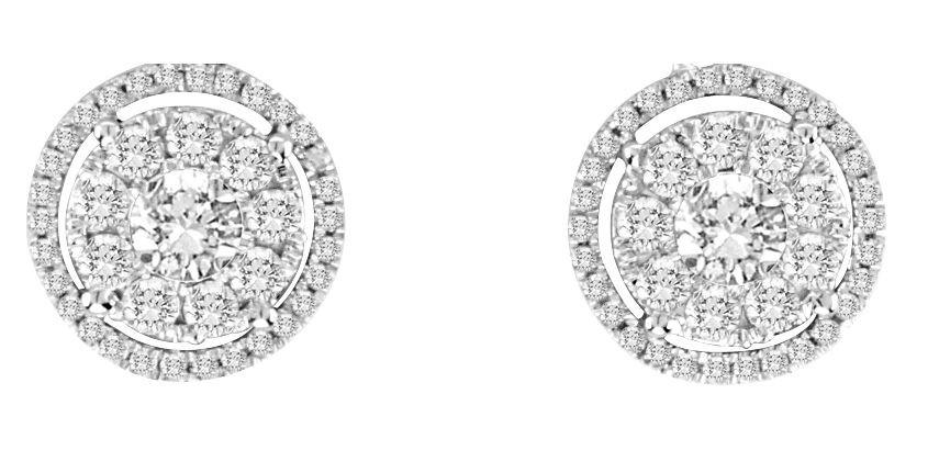 Emette diamond stud earrings