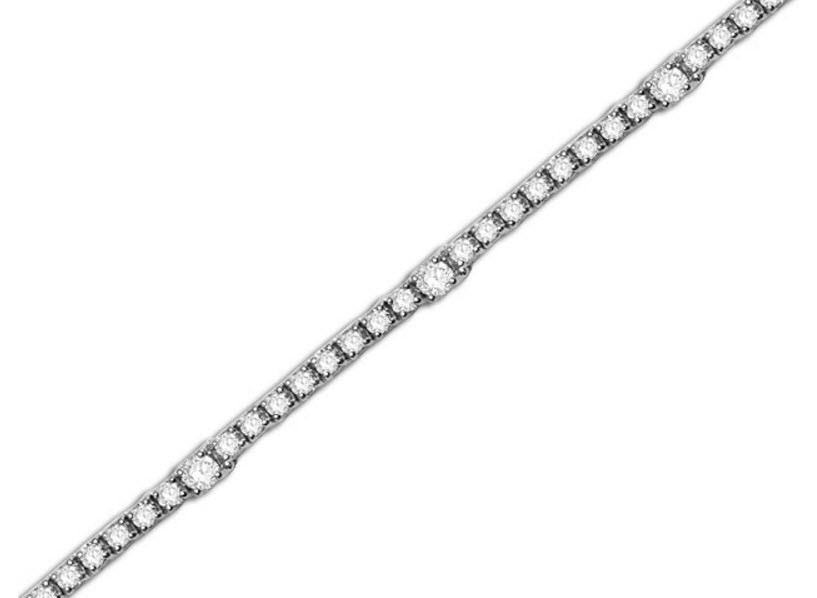 Diamond tennis bracelet by Dinaro