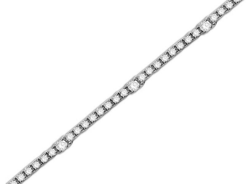 Diamond tennis bracelet by Dinaro